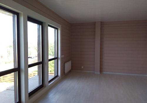Покраска дома из клееного бруса внутри фото