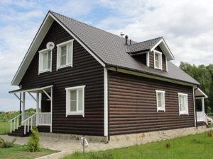 шлифовка и покраска каркасного дома