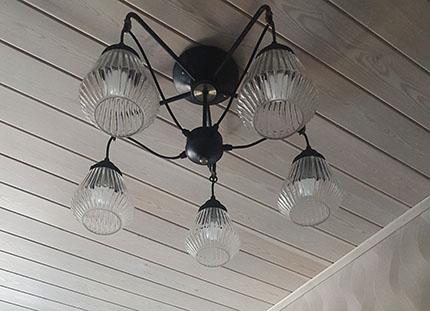 Потолок в каркасном доме
